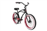 3G Newport BBW 8 Speed Cruiser Bike Black Red - March End Of Winter Sale NOW!