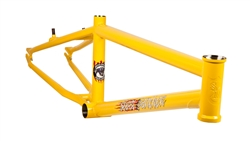 S&M Steel Panther BMX Frame Yellow - We are open, restocked and ready - shop in-store and online safely today!