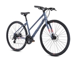 Fuji Absolute 1.9 ST Step Thru Hybrid Bike Satin Slate 2021 - We are open, restocked and ready - shop in-store and online safely today!