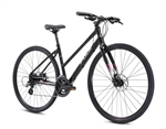 Fuji Absolute 1.9 ST Step Thru Hybrid Bike Black 2021 - We are open, restocked and ready - shop in-store and online safely today!