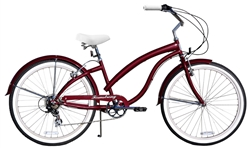 Firmstrong Bella Fashionista 7 Speed Ladies Cruiser Bike - (24-Hour Sale NOW!)