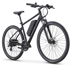 Fuji E-Traverse 2.1 Electric Bike Satin Black - We are open, restocked and ready - shop in-store and online safely today!