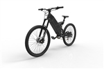 Stealth P7 Electric Commuter Mountain Bike Black FREE Headlight - Early Fall Sale