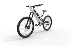 Stealth P7 Electric Commuter Mountain Bike Snow White 2019 - Valentine's Sale Going On NOW!