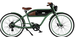 Michael Blast Greaser Classic 500W Retro Electric Bike Green - We are open, restocked and ready - shop in-store and online safely today!