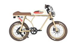 Michael Blast Outsider 750 Retro Fat Tire Electric Bike Tan - We are open, restocked and ready - shop in-store and online safely today!