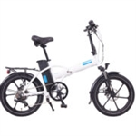 Magnum Premium 48 High Step Folding Electric Bike White - April Spring Sale NOW!