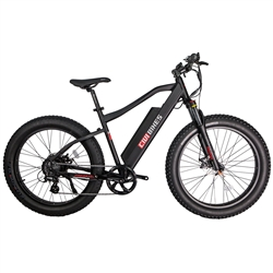 REVI Predator Fat Tire 500W Electric Bike Matte Black - We are open and you can shop in-store and online safely today!