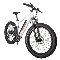 REVI Predator Fat Tire 500W Electric Bike Pearl White - We are open and you can shop in-store and online safely today!