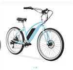 Firmstrong E-Urban Lady 350W Electric Beach Cruiser Bike Baby Blue - We have a huge sale going on NOW!