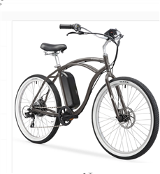 Firmstrong Urban Man 350W Electric Beach Cruiser Bike Matte Grey | 48-Hour Sale Going On Now!